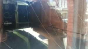 Graffiti glass scratch repair